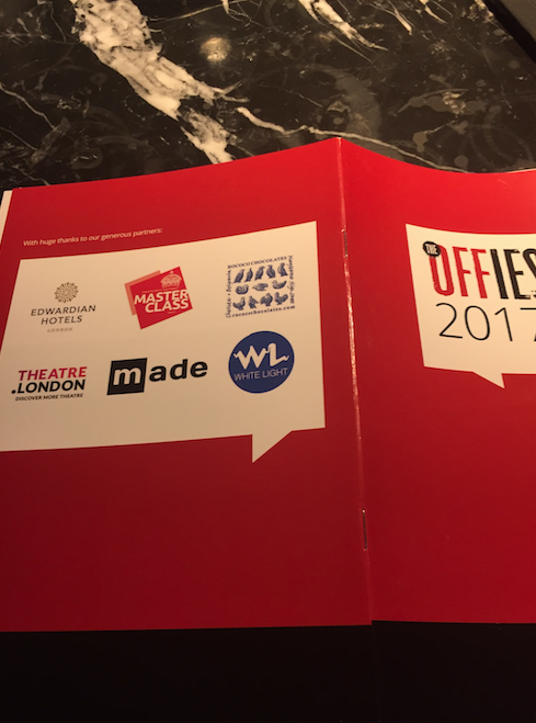 made sponsors the 2017 Off West End Awards